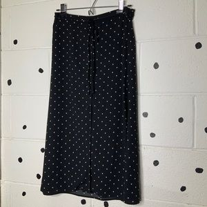 Rachel Zoe Polka Dot MIDI Skirt with Buttons Sz 2
